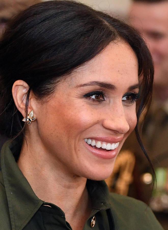 Meghan Markle wears Princess Diana's butterfly earrings on royal tour