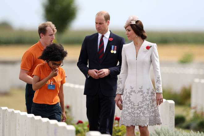 The Duke and Duchess of Cambridge meet interns for the Commonwealth War Graves Commission