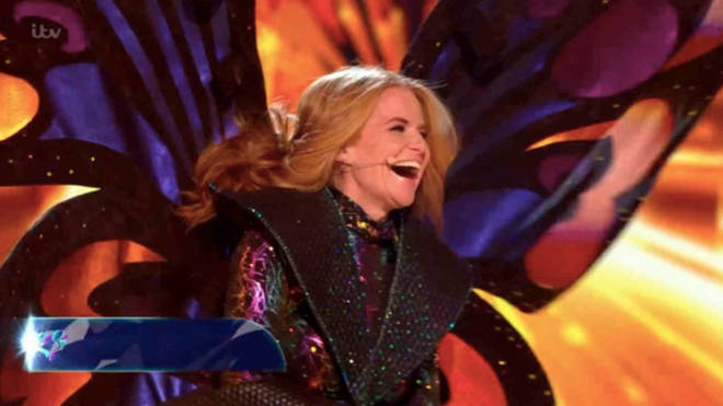 Patsy Palmer was unmasked as the Butterfly