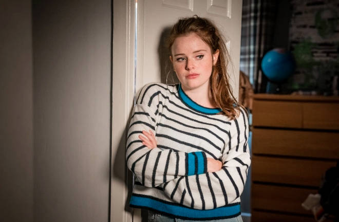 Imogen King stars as Abbie Armstrong in The Bay
