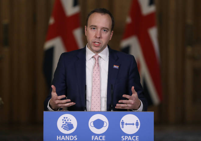 Matt Hancock announced the changes at a Downing Street press conference this afternoon