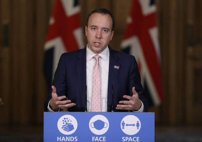Matt Hancock addressed the nation from Downing Street today