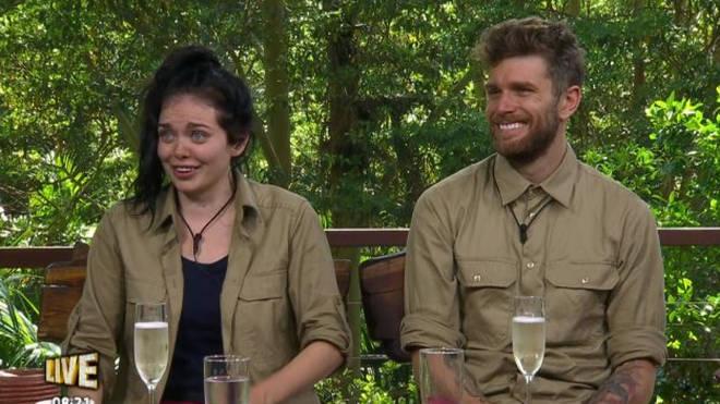 Scarlett Moffatt and Joel Dommett on I'm A Celeb Extra Camp