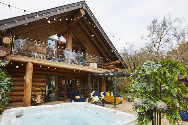The Cabins each have their own hottub