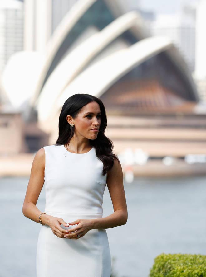 Meghan Markle wears white dress during royal tour to Australia