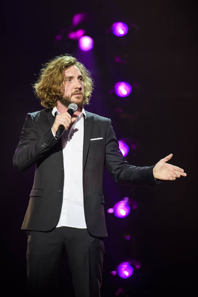 Comedian Seann Walsh on stage