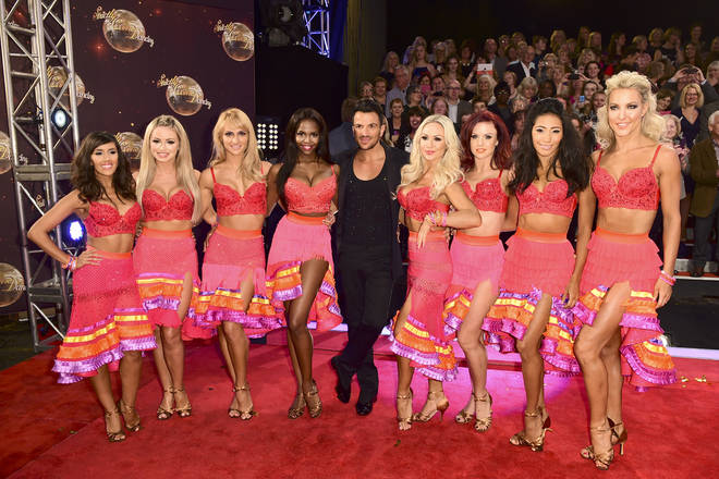 Peter Andre with the professional Strictly dancers
