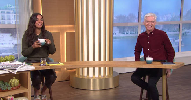 Rochelle Humes is standing in for Holly Willoughby on This Morning