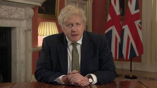 Boris Johnson announced a national lockdown on January 4