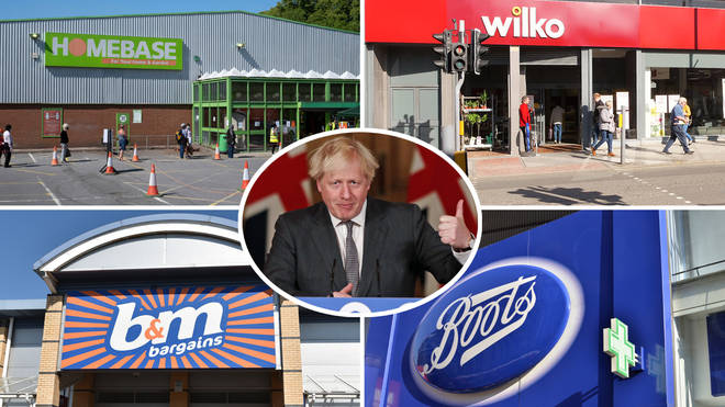 Homebase, B&M, Wilko and Boots are among the essential shops remaining open in lockdown
