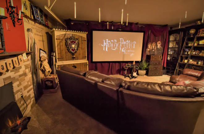 The Harry Potter themed cinema is perfect for chilling