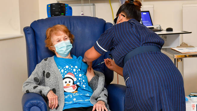 Margaret Keenan, 90, was the first person to receive the jab in the UK