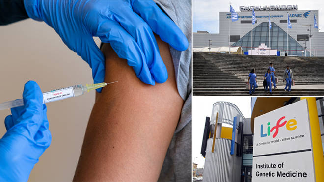 Vaccination hubs are opening across the UK next week
