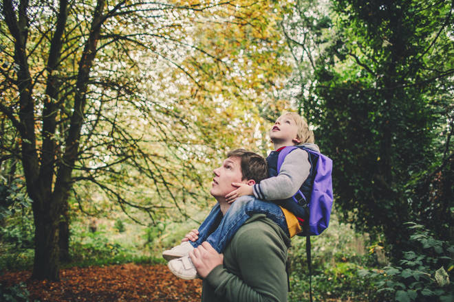 Get your children hunting for birds and bugs during a walk outdoors