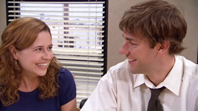Jim and Pam finally get together at the end of season three of The Office US