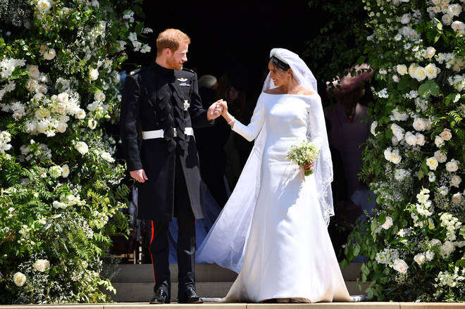Meghan Markle weds Prince Harry in a stunning Givenchy gown