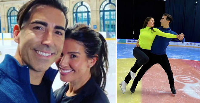 Rebekah Vardy's skating partner sustained an injury during rehearsals