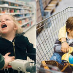 A man has said children shouldn't be allowed to sit in trolleys