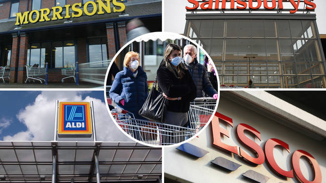 Supermarkets have updated their shopping rules amid the lockdown