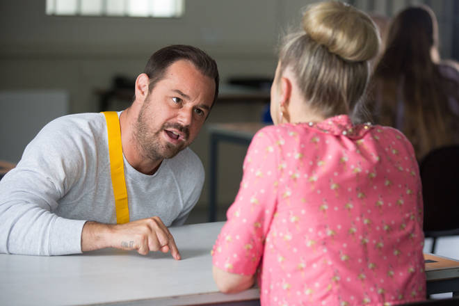 Danny Dyer plays an angry Mick Carter in jail