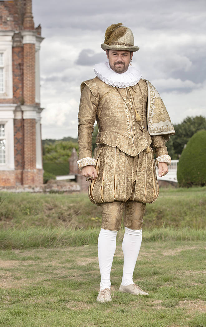 Danny Dyer wears medieval outfit for his tv show