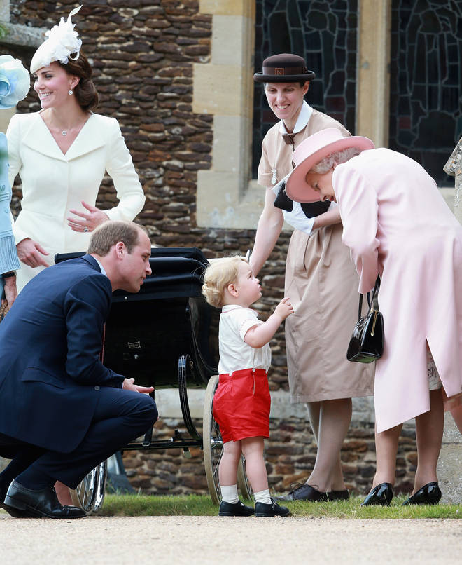 Norlander Maria Barrallo pictured with the Queen, Prince George and the Duke and Duchess of Cambridge at the Christening of Princess Charlotte
