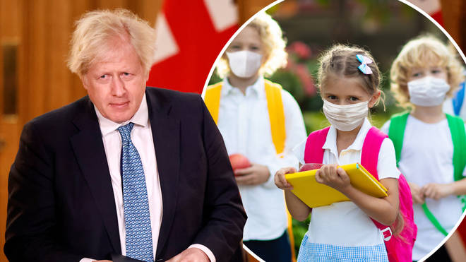 Boris Johnson responded to queries over when schools may reopen