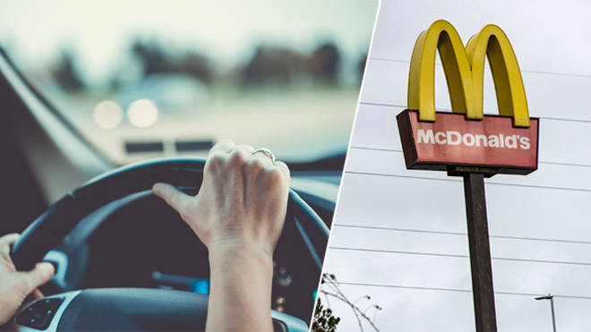 A woman has been fined for driving to McDonalds