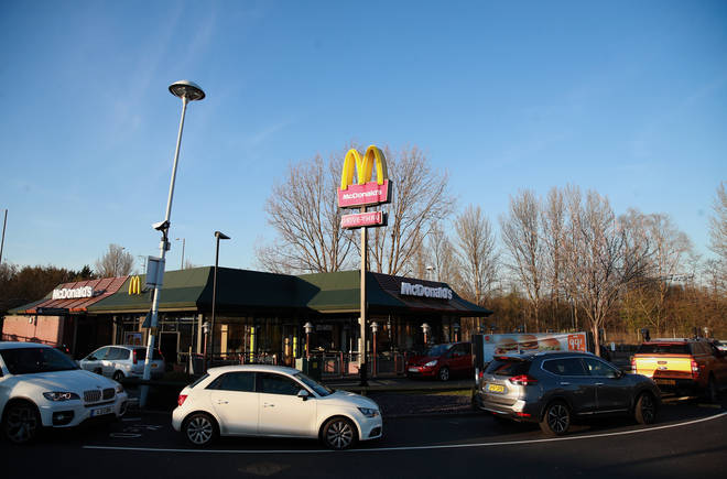 A woman was fined for going to McDonald's during lockdown