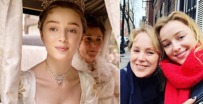 Phoebe Dynevor has opened up about the struggles of watching Bridgerton with her family...