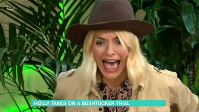 Holly Willoughby attempts I'm A Celebrity Bushtucker trial on This Morning