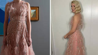 Holly Willoughby looked amazing in the pink couture gown