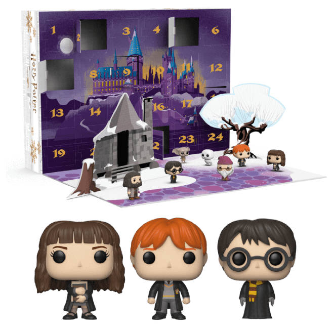 There are cute Harry Potter bobble heads hiding behind the doors