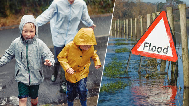 The UK is set for heavy rainfall