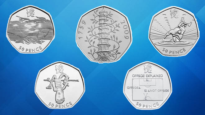 These are most valuable 50p coins in the UK