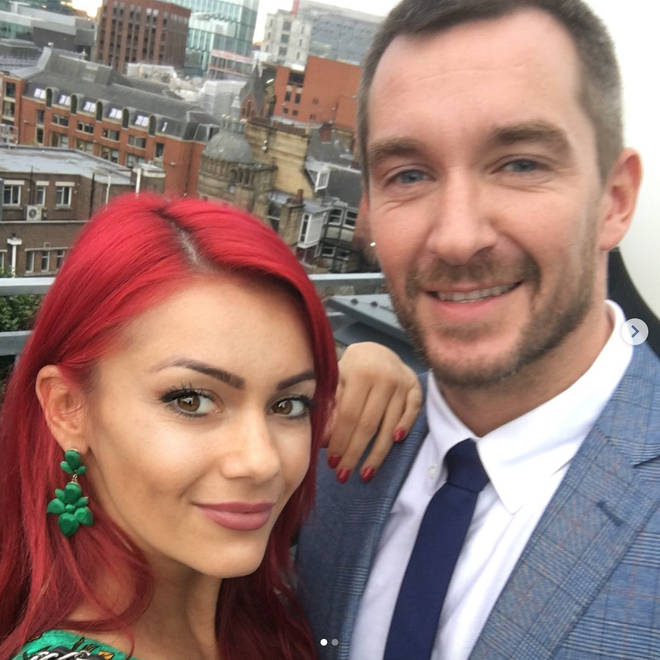 Dianne Buswell takes a selfie with ex-boyfriend Anthony Quinlan