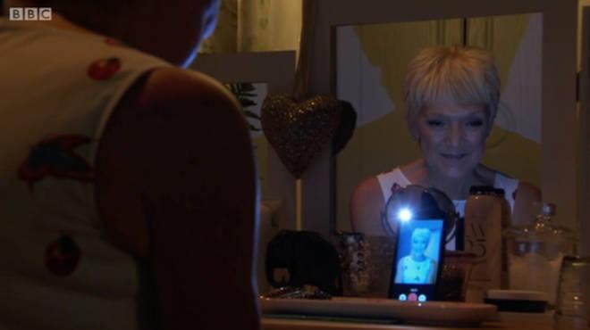 Jean Slater filmed a message for her family