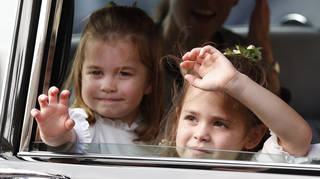 Princess Charlotte and Teddy Williams were both amongst the bridesmaids for Princess Eugenie's wedding