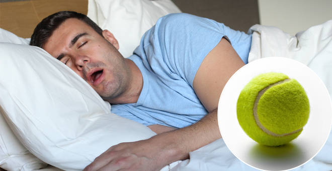 A tennis ball could be the key to helping you stop snoring (stock images)