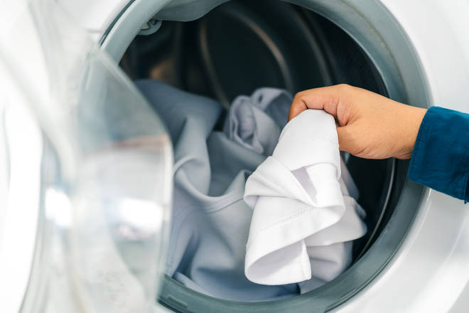 Placing an ice cube in the dryer could ensure your clothes come out crease-free (stock image)