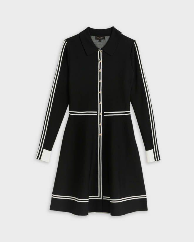 Holly Willoughby's shirt dress is from Ted Baker