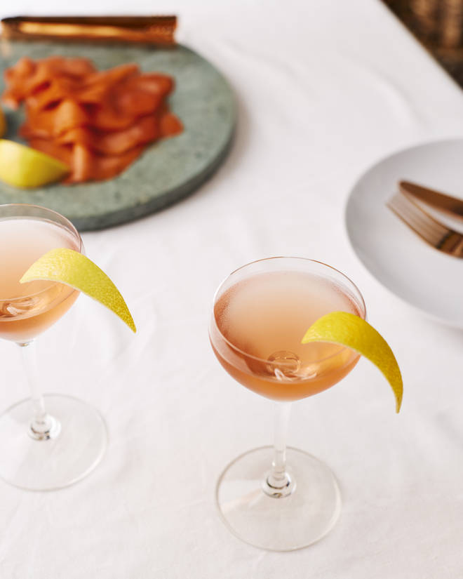 This delicate serve is a floral twist on a negroni