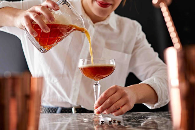 This cocktail embraces the trend for orange flavours