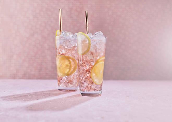This pastel cocktail is really dreamy
