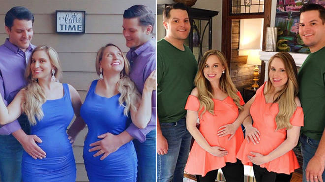 Brittany and Briana Deane are expecting with Josh and Jeremy Salyers