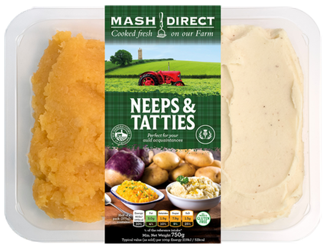 Neeps and tatties are a traditional Burns Night dish