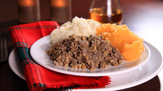 Burns Night is celebrated with whisky, poetry and a plate of haggis, neeps and tatties