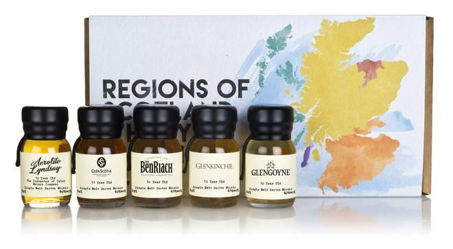 Enjoy the taste of Scotland's best distilleries with this tasting kit