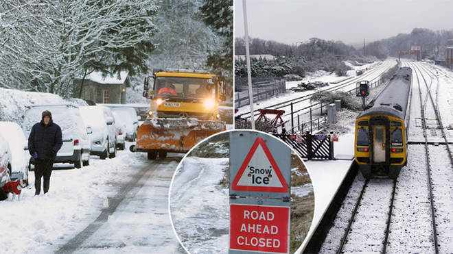 Snow and ice is set to cover parts of the UK
