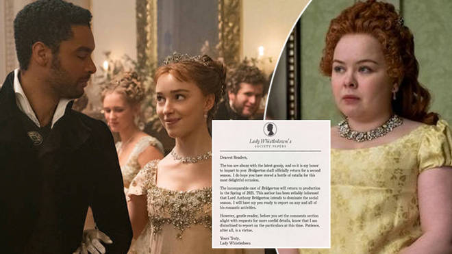 Bridgerton will be returning for a second season on Netflix